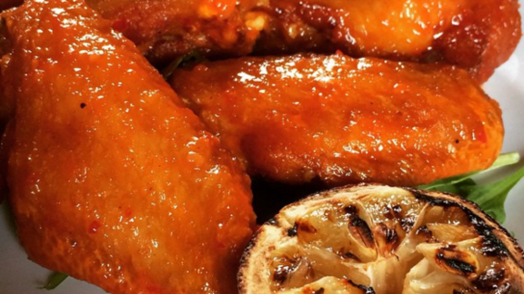 Chicken wings at Redd Wood