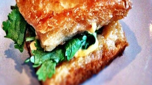 Chef Ricardo Zarate reviews Shrimp toast sandwich at Son of a Gun Restaurant