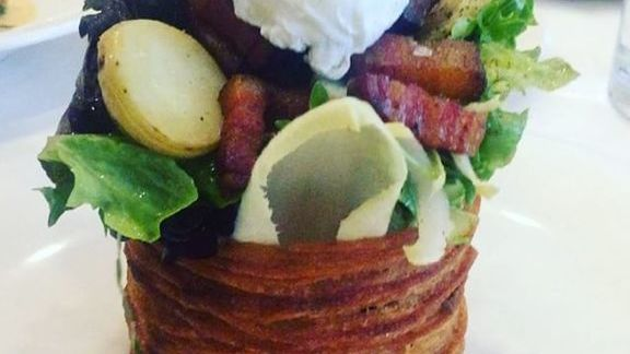 Chef Steven Satterfield reviews Spring Salad with Bacon and Egg at Blackbird
