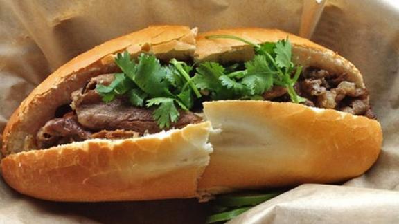Bánh mì thịt nướng at Little Vietnam Cafe