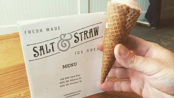 Chef Ben McLean reviews Pigs blood and chicken liver ice cream at Salt & Straw Pop Up Truck