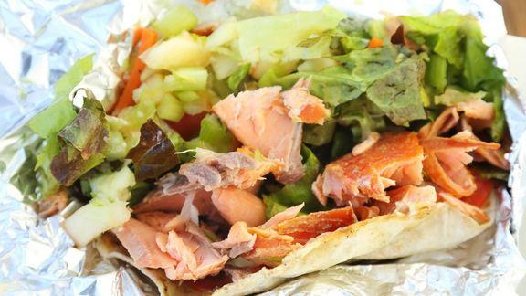 Smoked fish tacos at Ruddell's Smokehouse