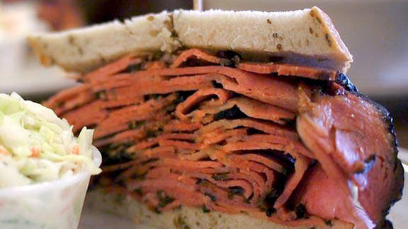 Pastrami sandwich at Canter's Delicatessen