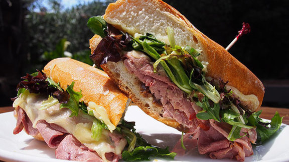 Chef Ari Weiswasser reviews Smoked duck breast sandwich at