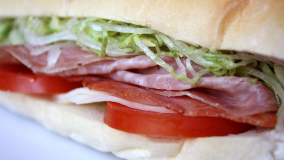 Chef Justin Devillier reviews Italian hoagie at