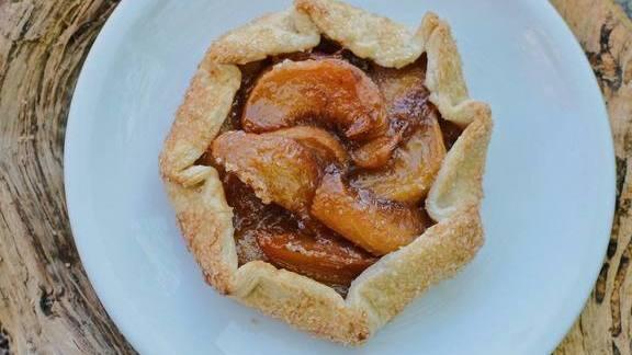 Peach crostada at Coltivare Pizza & Garden