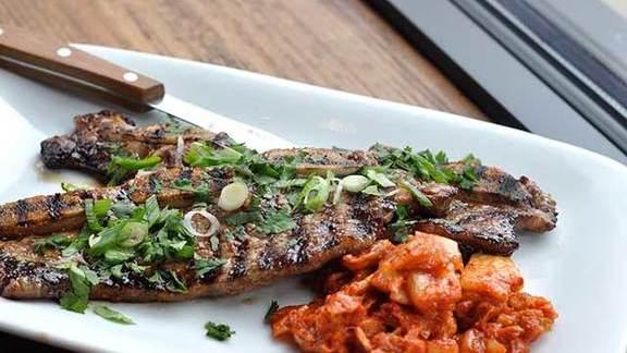 Bev (super famous) Eggleston's pork blade steak at Terroir