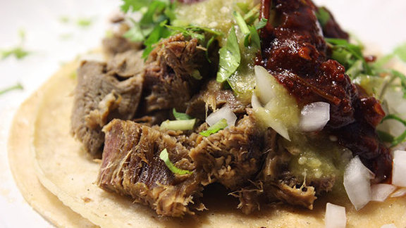 Chef Jonathan Benno reviews Lengua taco at