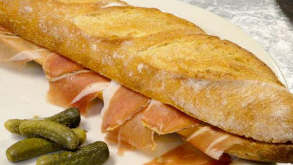 Chef Renee Erickson reviews Baguette au jambon at Le Pichet
