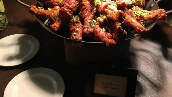 Fernandina Beach hot chicken at Gilbert's Underground Kitchen