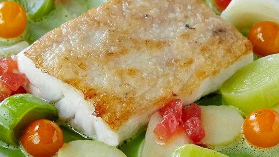 Chef Tony Esnault reviews Filet de Loup de Mer at Church & State Bistro