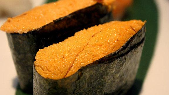 Uni sushi at Blue Fish Sushi