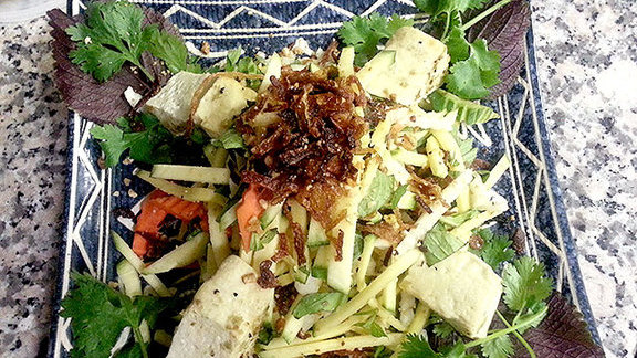 Green mango salad w/ tofu at Green Leaf Vietnamese Restaurant