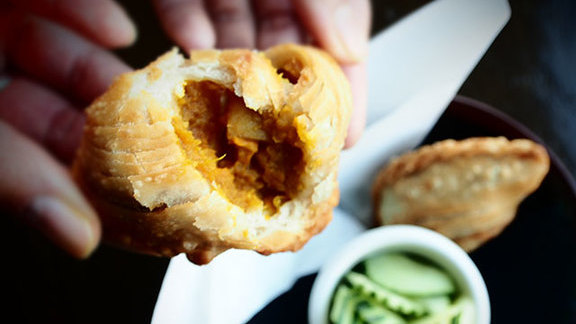 Curry puff at Yuzu Sushi and Robata Grill