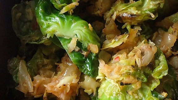 Chef Todd Shoberg reviews Kimchi Brussels sprouts at