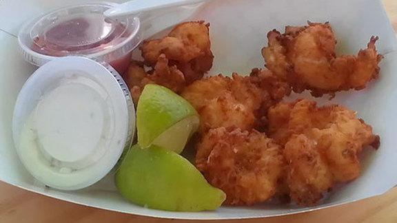 Fried shrimp at La Camaronera