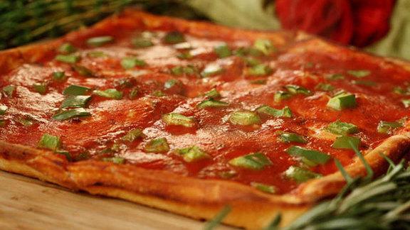 The Original Square Pizza at Santucci's Square Pizza
