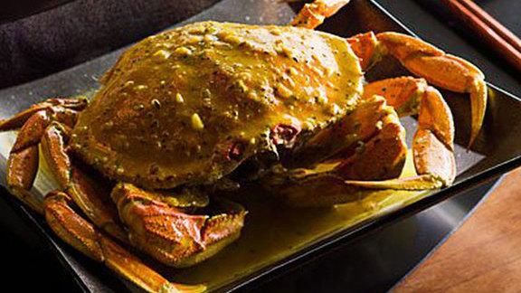 Black bean crab at Wild Ginger