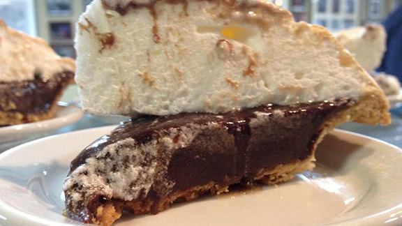 Chocolate meringue pie at Arnold's Country Kitchen