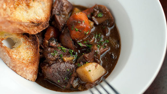 Bœuf bourguignon at Luc