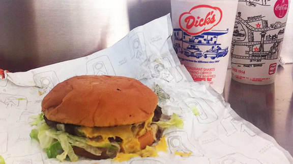Cheeseburger  at Dick's Drive-In