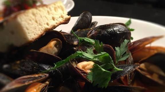 Mussels in broth at Kevin Rathbun Steak