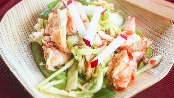 Chef Brannon Florie reviews Shrimp ceviche at On Forty One