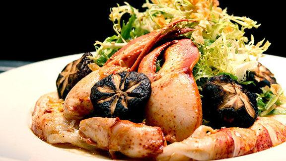 Lobster & shiitake mushroom salad at Nobu