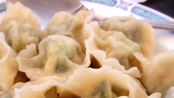 Vegetable dumplings at Szechuan Noodle Bowl