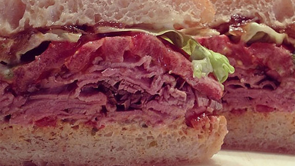 Chef Mike Lata reviews Roast beef sandwich at Butcher & Bee