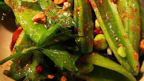 Chef Gregory Gourdet reviews Tre scelte dai giardini at Ava Gene's