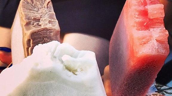 Caramel frozen popsicle at Steel City Pops