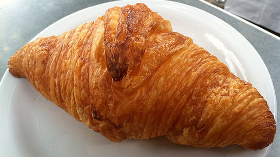 Croissant at Cafe Besalu