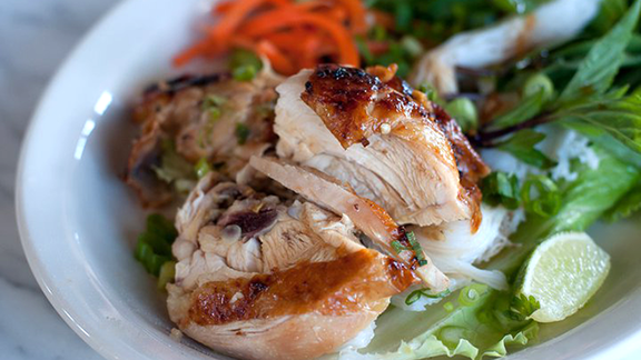 Chef Mark Fuller reviews Grilled chicken vermicelli at Ba Bar