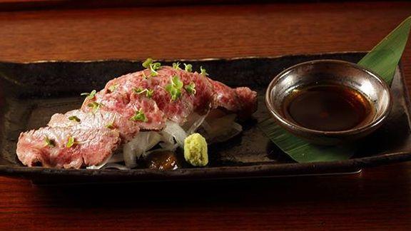 """Wagyu"" beef tataki at Sushi Azabu"