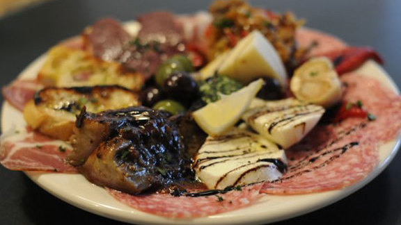 Antipasti plate at Cafe Lago