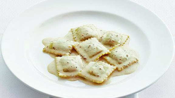 Ravioli ai porcini at Il Mulino New York