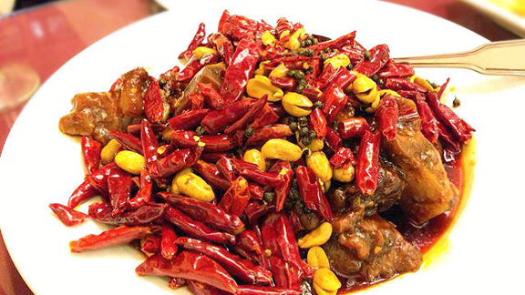 Hot & spicy pig feet at Z & Y Restaurant