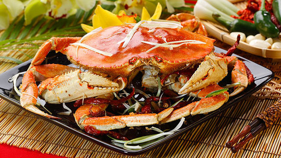 Dungeness crab w/ ginger & green onion sauce at Kirin Seafood Restaurant