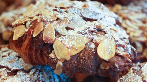 Chef Vikram Vij reviews Double baked almond croissant at