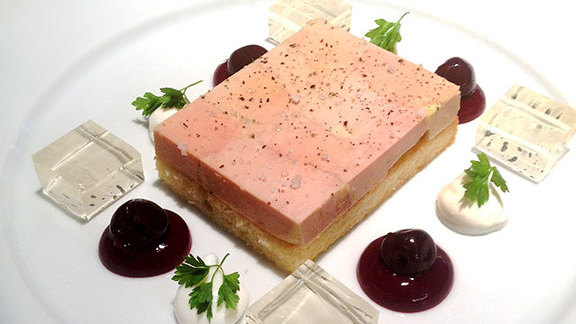 Chef Thierry Busset reviews Terrine of duck foie gras at