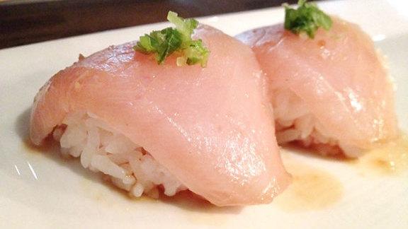 Albacore nigiri at Sushi Spot