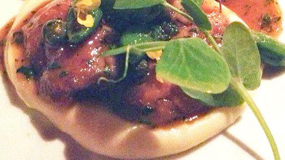 Chef Shaun Hergatt reviews Veal sweetbread piccata at Hearth