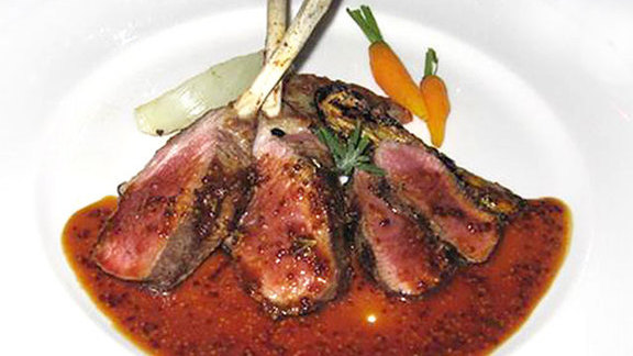 Rack & loin of Salt Spring Island lamb at Hastings House Country House Hotel