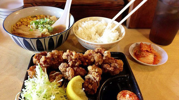 Thursday's daily lunch combo at Yakyudori Yakitori & Ramen