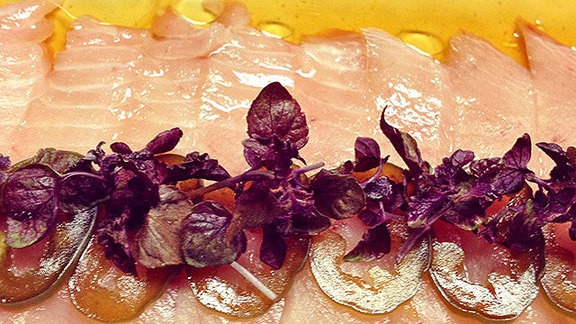Albacore sashimi at Park Restaurant