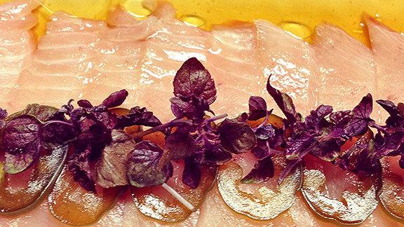 Albacore sashimi at Park Restaurant