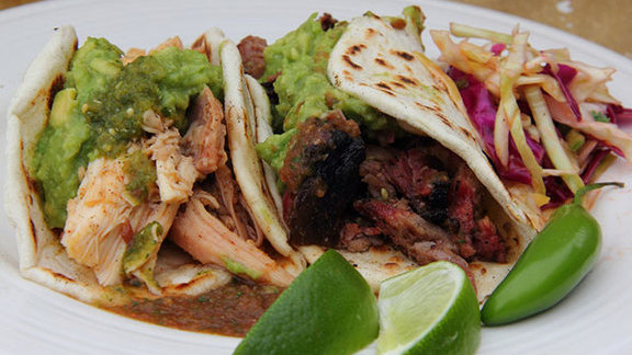 Smoked carnitas tacos at Valentina's Tex Mex BBQ