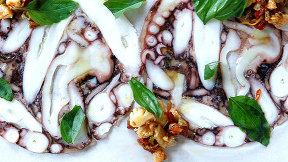 Octopus salame at Rosemary's Enoteca & Trattoria