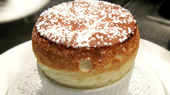 Grand Marnier soufflé at Le Crocodile Restaurant